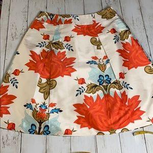 Talbots silk floral skirt size 6P